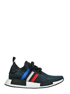 Adidas-Sneakers Nmd R1 Pk in tessuto nero blue rosso