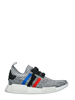 Adidas-Sneakers Nmd R1 Pk in tessuto grigio blue rosso