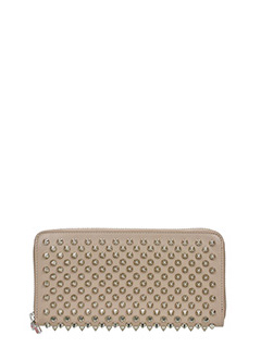 Christian Louboutin-Panettone walle taupe leather wallet