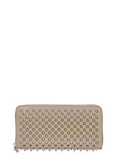 Christian Louboutin-Portafoglio Panettone Zipped  Wallet in pelle taupe