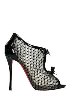 Christian Louboutin-Empiralta 120 black patent leather ankle boots