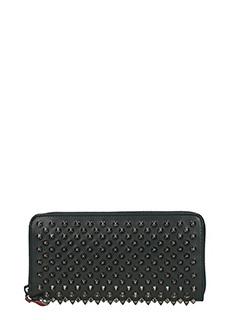 Christian Louboutin-Portafoglio Panettone Zipped  Wallet in pelle nera