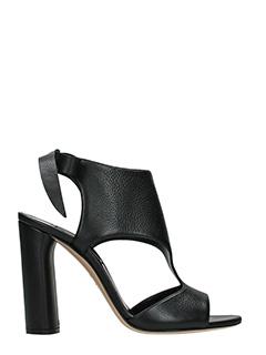 Casadei-Sandali in pelle nera
