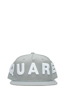 Dsquared 2-Cappello Logo in cotone grigio