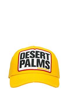 Dsquared 2-Cappello Desert Palms in cotone giallo