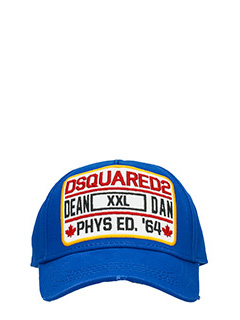 Dsquared 2-Cappello Logo in cotone blue