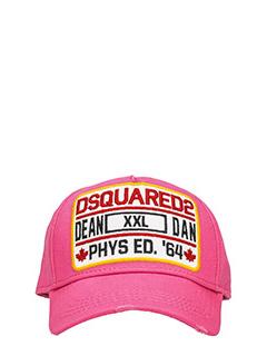 Dsquared 2-Cappello Logo in cotone rosa