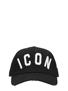 Dsquared 2-Cappello Icon  in cotone nero