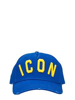 Dsquared 2-Cappello Icon  in cotone blue