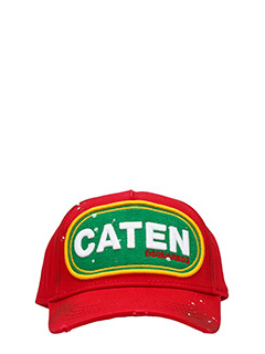 Dsquared 2-Cappello in cotone rosso