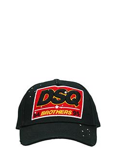Dsquared 2-Cappello in cotone nero