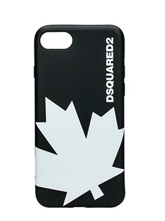 Dsquared 2-Cover IPhone 7 Canada in silicone nero bianco