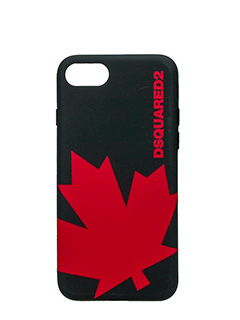 Dsquared 2-Cover IPhone 7 Canada in silicone nero rosso