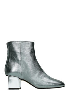 Marc Ellis-grey suede and leather ankle boots