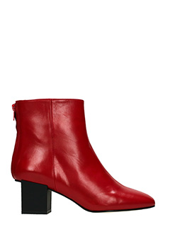 Marc Ellis-red suede and leather ankle boots