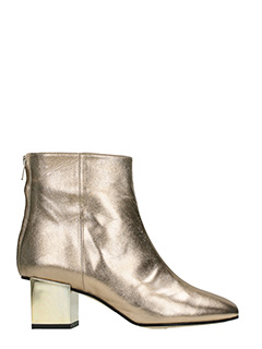 Marc Ellis-beige suede and leather ankle boots