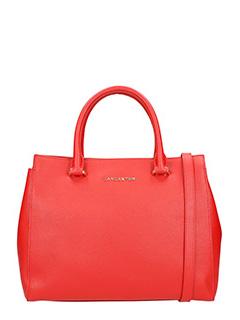 Lancaster-Borsa  Adelina Handle Bag in pelle saffiano rossa