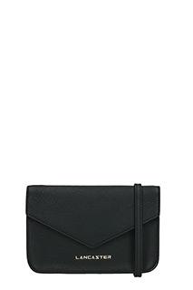 Lancaster-Pochette Adeline Mini Clutch in pelle saffiano nera