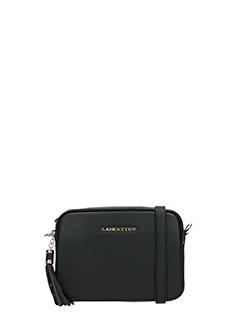 Lancaster-Pochette Ana Mini Cross in pelle nera
