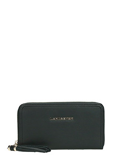 Lancaster-Portafoglio Ana Zip  Wallet  in pelle nera