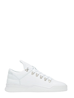 Filling Pieces-Sneakers Mountain Cut Ghost in pelle bianca