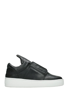 Filling Pieces-Sneakers Mountain Cut Aedan in pelle nera