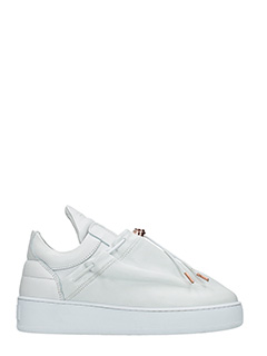 Filling Pieces-Sneakers Mountain Cut Laced Tassle in pelle bianca