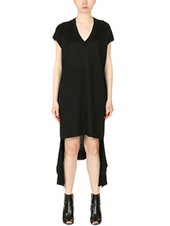 Balenciaga-black cotton dress