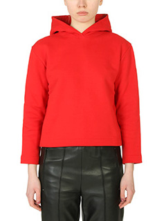 Balenciaga-red cotton sweatshirt