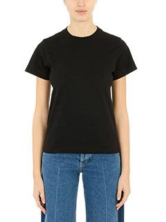 Balenciaga-T-Shirt Basic in cotone nero