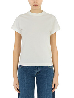 Balenciaga-white cotton t-shirt