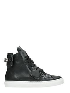 One Way-Sneakers alte in pelle nera