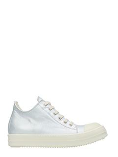 Rick Owens DRKSHDW-Sneakers in pelle silver