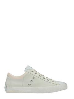 Crime-Sneakers basse in pelle laser bianca