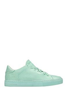 Crime-Sneakers basse in pelle verde