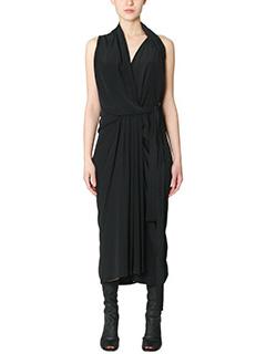 Rick Owens-Vestito Limo Dress in viscosa nera