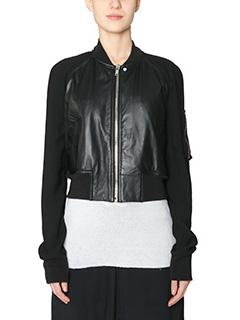 Rick Owens-Flight Bomber  black leather outerwear