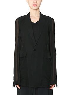 Rick Owens-Fan Blazer black silk outerwear