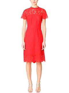 Diane Von Furstenberg-Vestito Alma in pizzo rosso