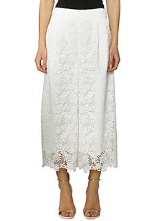 Diane Von Furstenberg-Pantalone Holly Lace in pizzo bianco