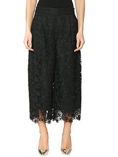 Diane Von Furstenberg-Pantalone Holly Lace in pizzo nero