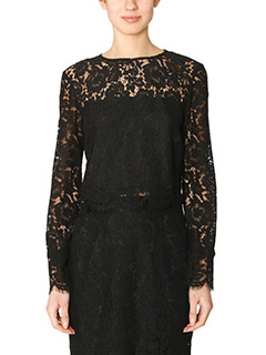 Diane Von Furstenberg-Yeva black cotton Blouse