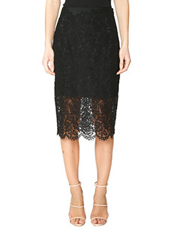 Diane Von Furstenberg-Gonna Glimmer in pizzo nero