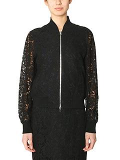 Diane Von Furstenberg-Kennadie Lace black cotton outerwear