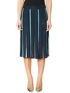 Diane Von Furstenberg-Melita Two blue silk skirt