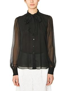 Diane Von Furstenberg-Alvanna black silk shirt