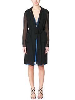 Diane Von Furstenberg-Blaine black silk outerwear