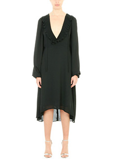Balenciaga-black polyester dress