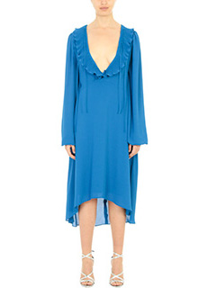 Balenciaga-blue polyester dress