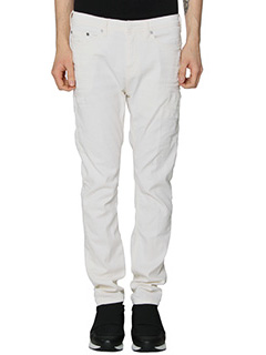 Neil Barrett-Jeans Skinny Fit Regular in denim bianco